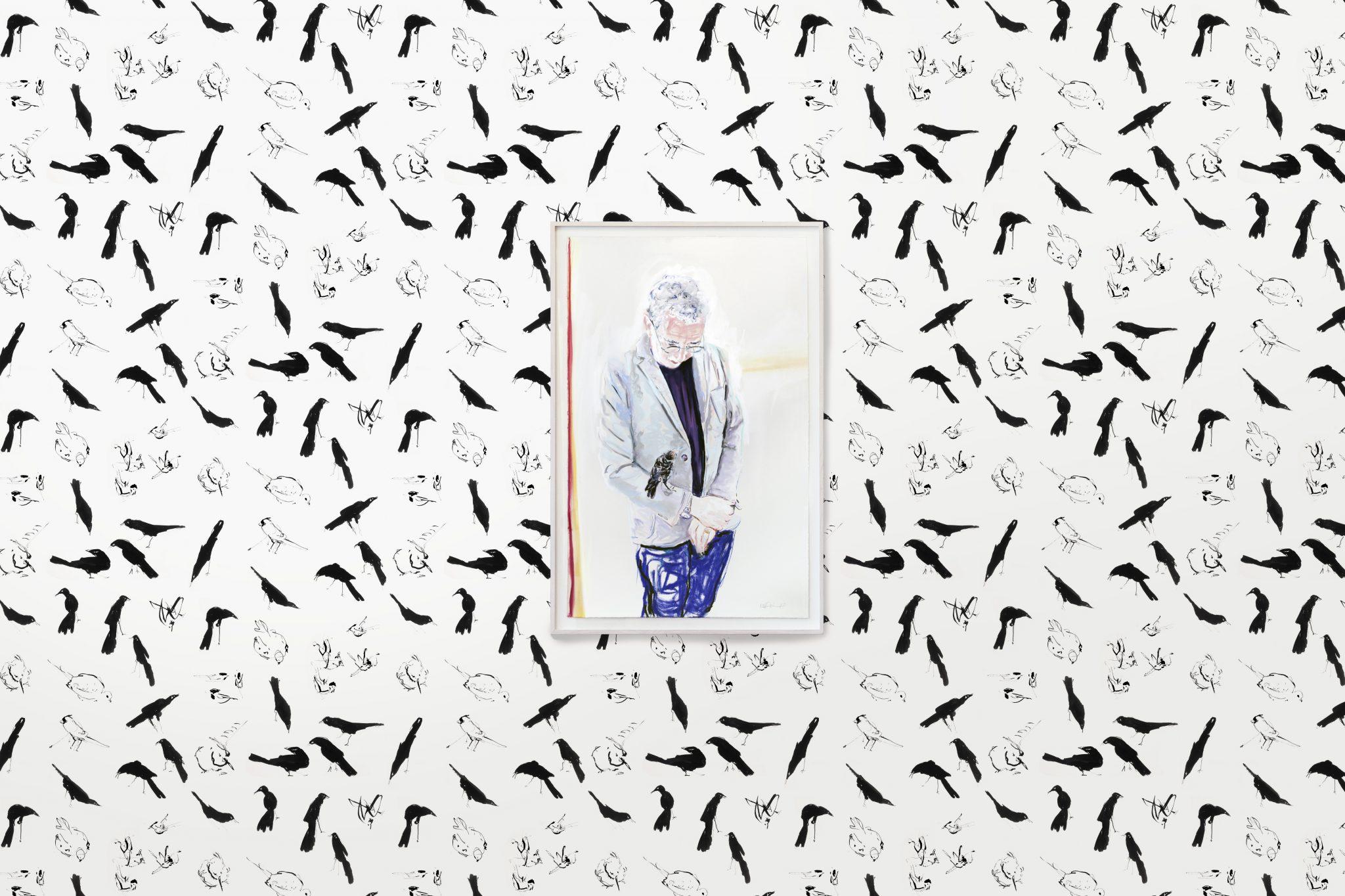 klaus & screech with birds wallpaper